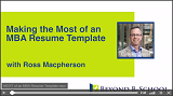 Making the Most of an MBA Resume Template