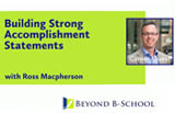 Building Strong Accomplishment Statements